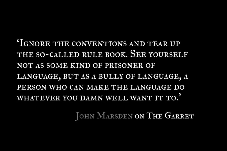 John Marsden_The Garret_Quotes