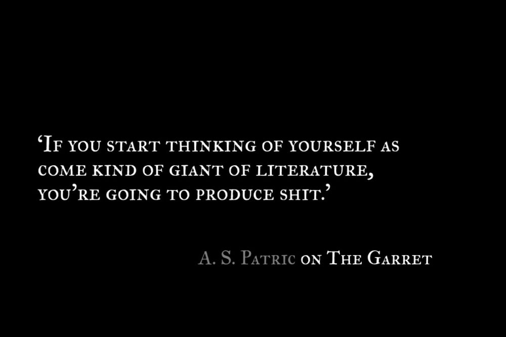 A S Patric_The Garret_Quote 1