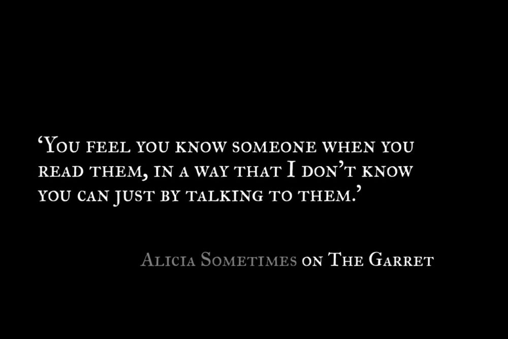 Alicia Sometimes_The Garret_Quote 1
