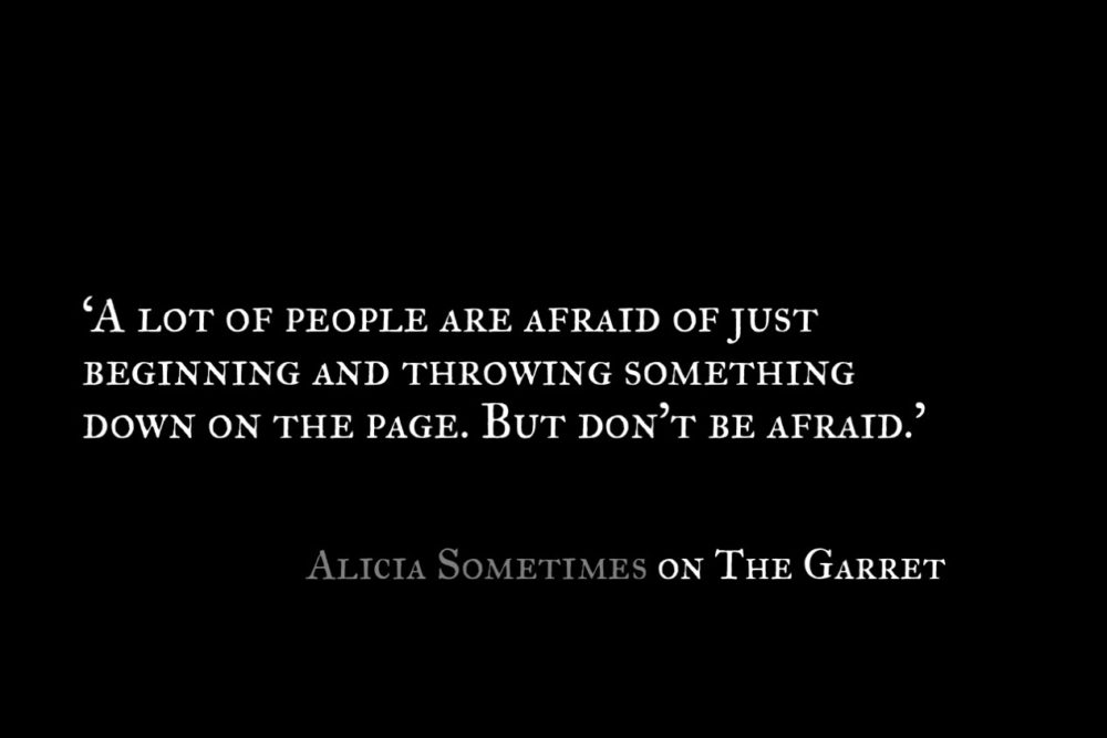 Alicia Sometimes_The Garret_Quote 2