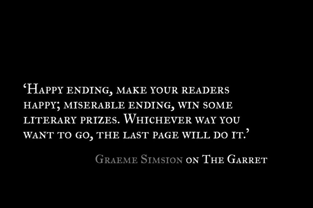 Graeme Simsion_The Garret_Quote 1