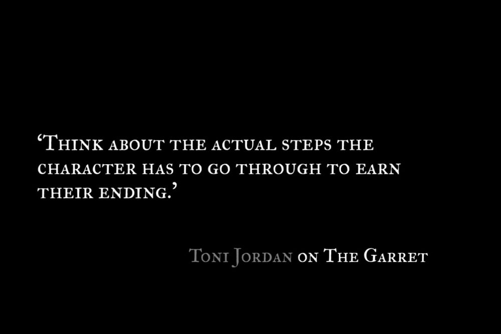 Toni Jordan_The Garret_Quote 1