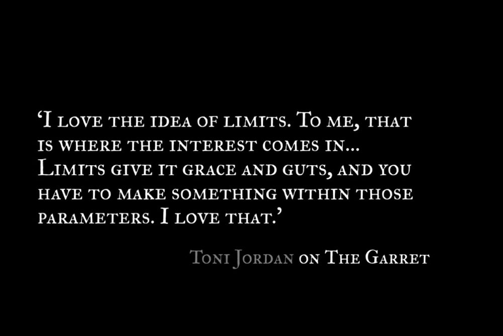 Toni Jordan_The Garret_Quote 2
