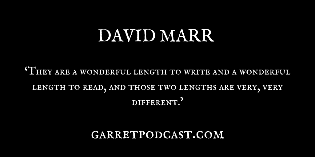 David Marr_The Garret_Quote 1