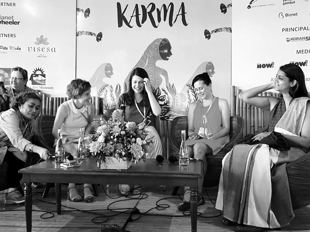 Fiona Wright, Archana Pidathala, Megan Stack and Fanny Poyk in conversation with Astrid Edwards at the Ubud Writers and Readers Festival